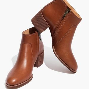 Madewell Cait Bootie in English Saddle